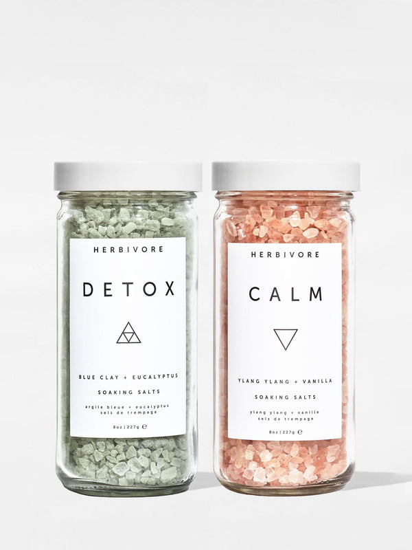 Herbivore Soaking Salt Set Detox and Calm