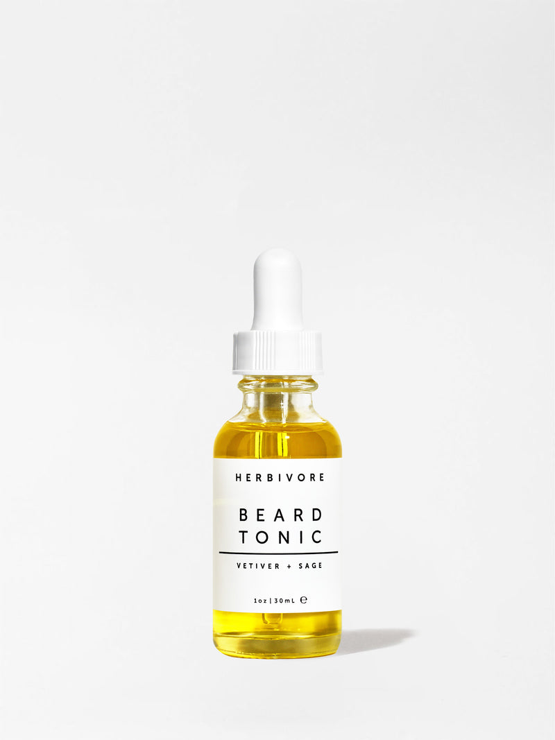Herbivore Vetiver and Sage Beard Tonic 1oz bottle