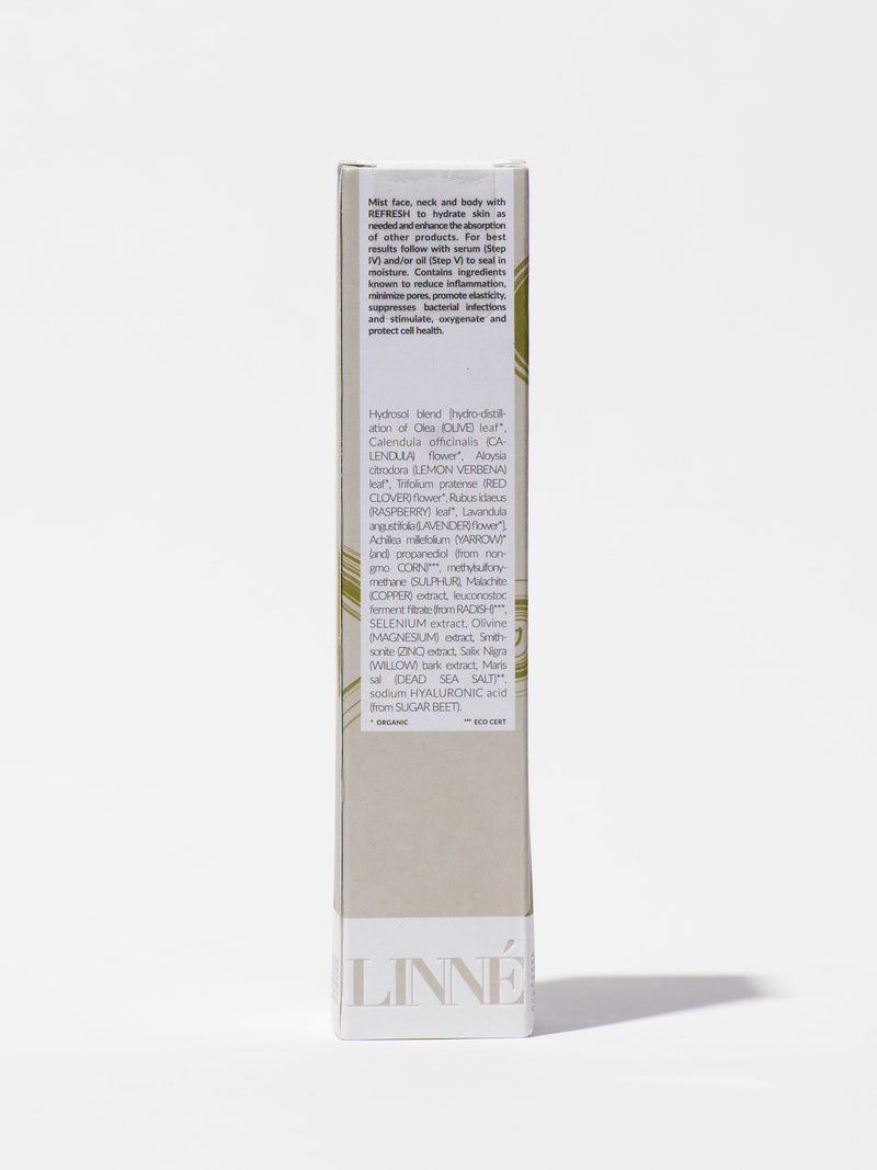 Linne Botanicals REFRESH Mineral Face Mist Box Back