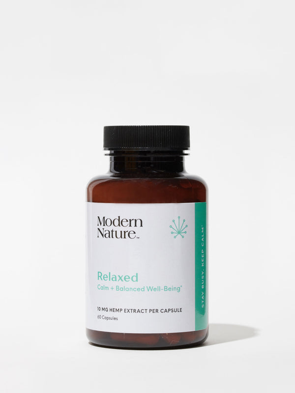 Relaxed CBD Capsules from Modern Nature, curated by Standard Dose