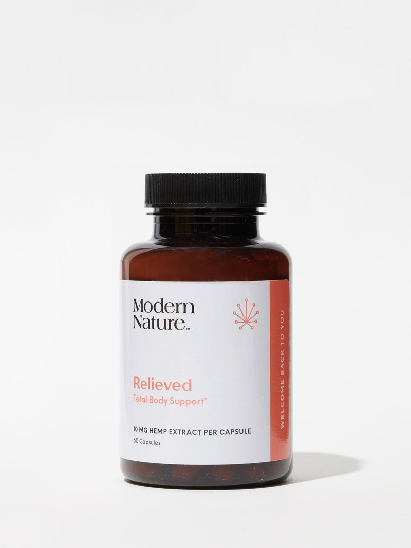 Relieved CBD Capsules from Modern Nature, curated by Standard Dose