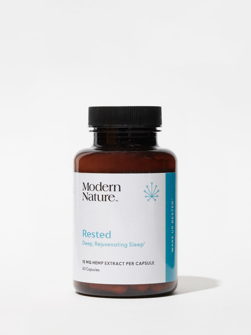 Rested CBD Capsules from Modern Nature, curated by Standard Dose