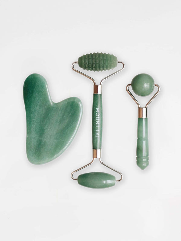 The Jade Trio Balancing Facial Set
