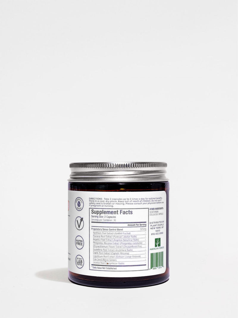 Plant People Sinus Support Jar Back