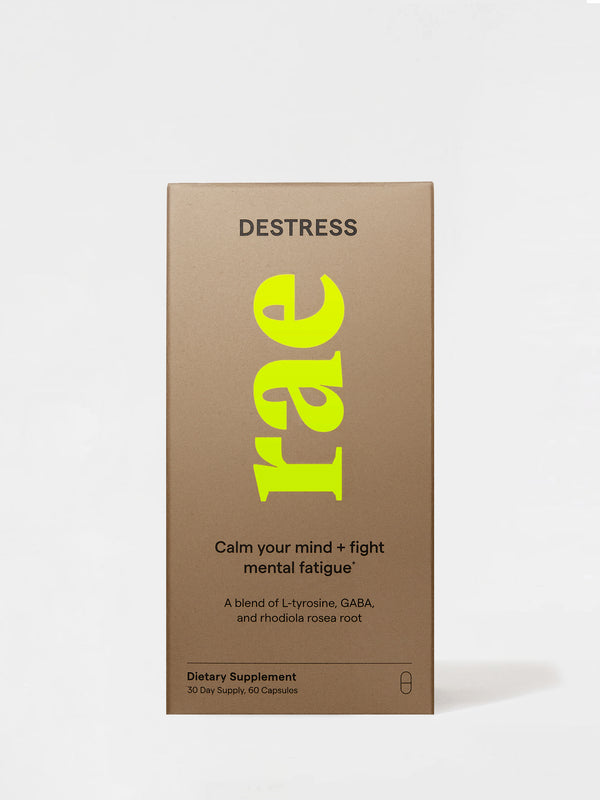 Rae Wellness Destress Capsules Front Box