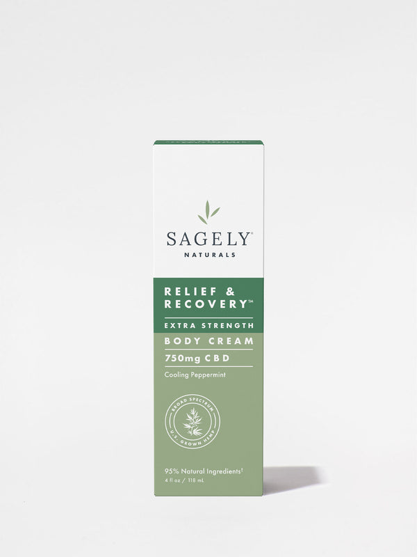 Sagely Extra Strength Relief + Recovery Cream box