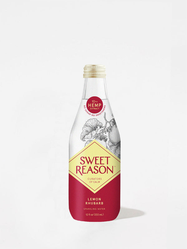 Sweet Reason Lemon + Rhubarb Sparkling Drink