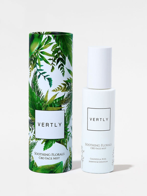 Vertly Soothing Florals Face Mist Bottle and Box 2oz