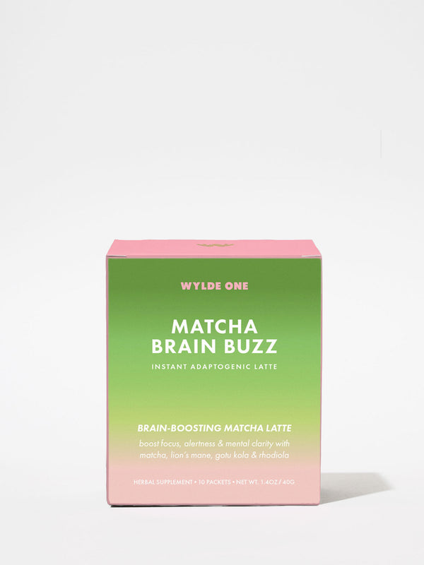 Wylde One Matcha Brain Buzz Box 10 Packets