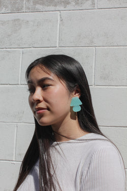 Faye Earrings - Mint Green