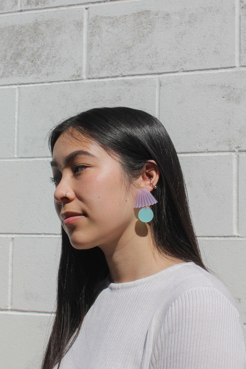 Lillian Earrings - Lavender & Mint