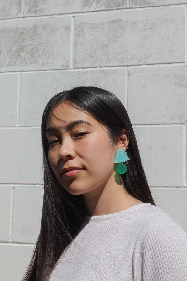Lillian Earrings - Mint & Green