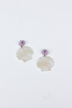 Large Shell Earrings - Pearl