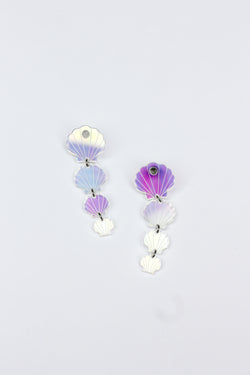 Shell Drop Earrings - Iridescent