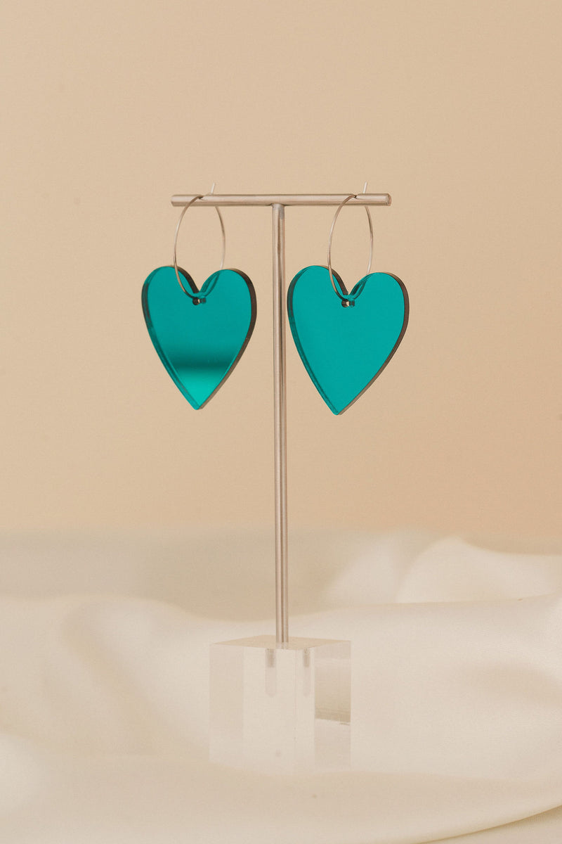 Annette Hoops - Teal Mirror