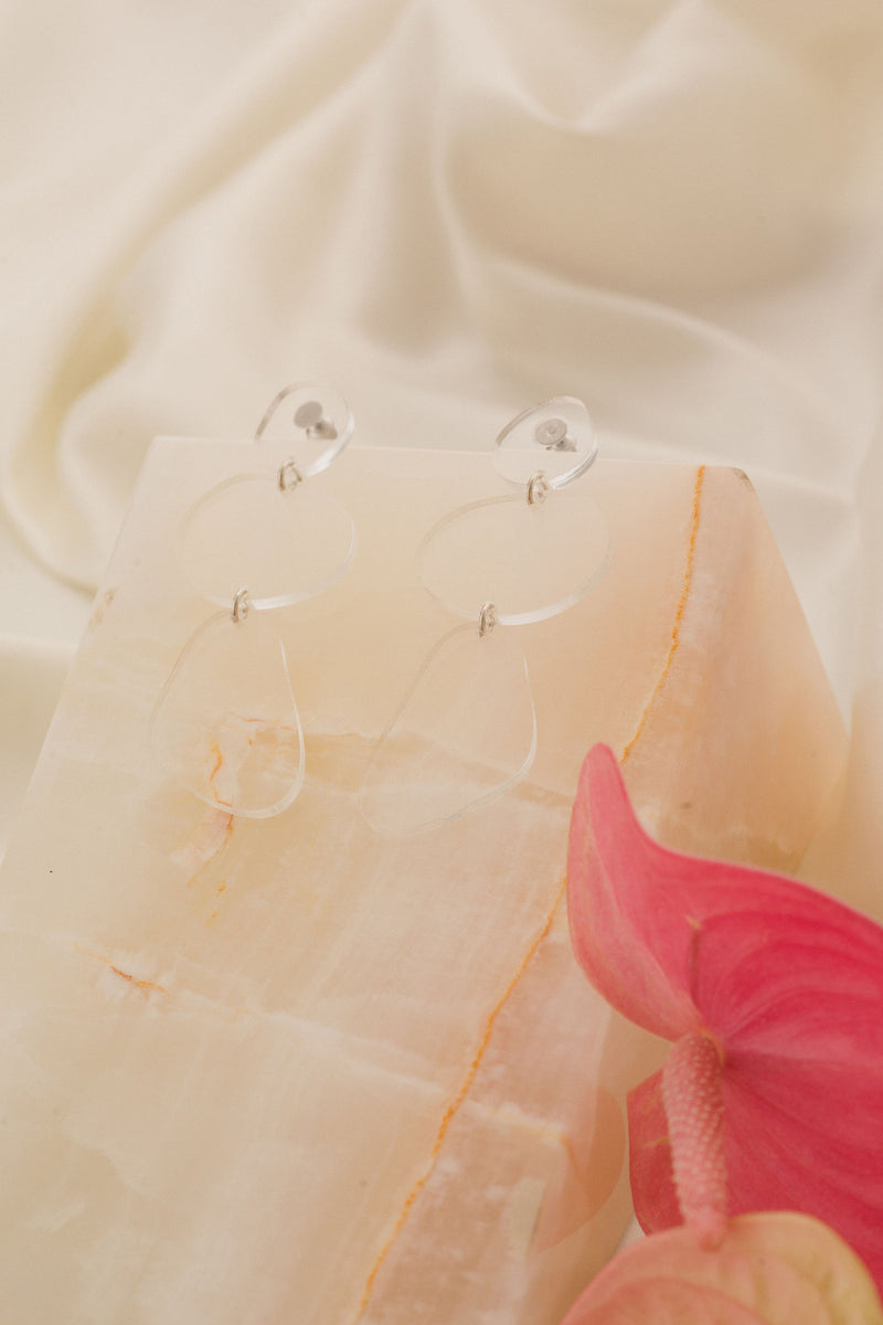 Ruth Earrings - Clear