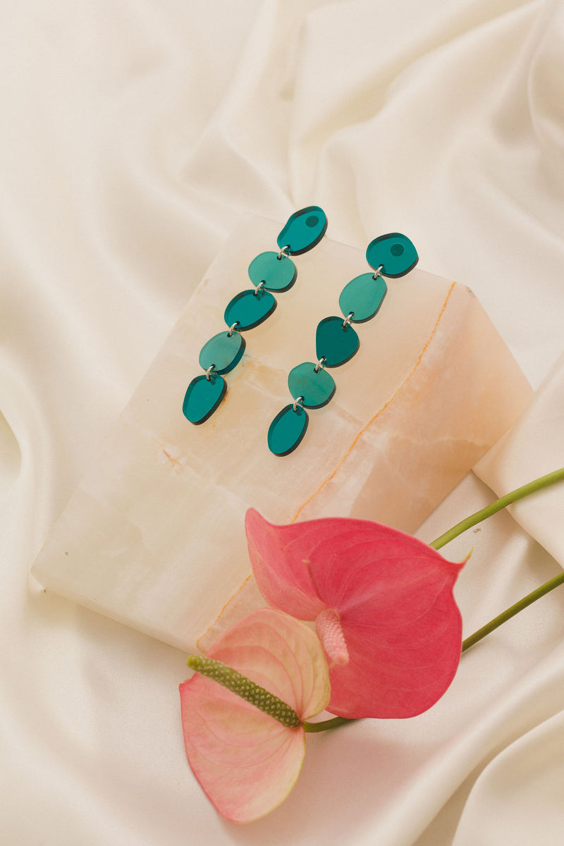Gladys Earrings - Teal