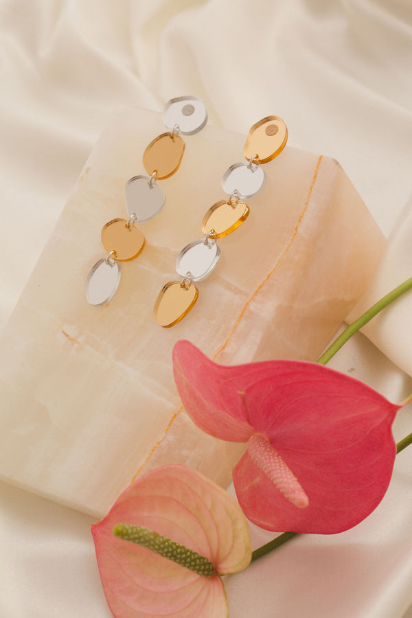 Gladys Earrings - Gold & Silver