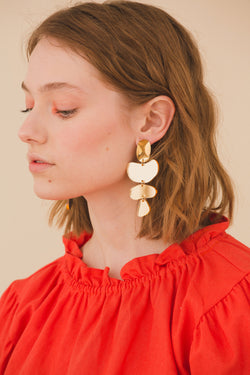 Rosalind Earrings - Gold Mirror