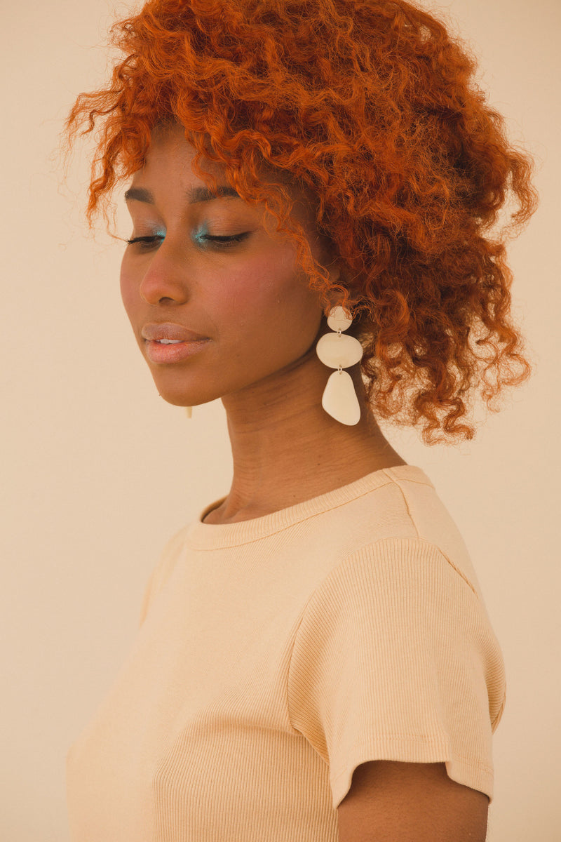 Ruth Earrings - Ivory
