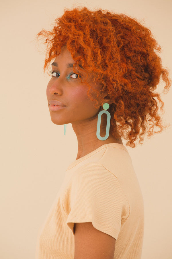 Beatrice Earrings - Mint Green
