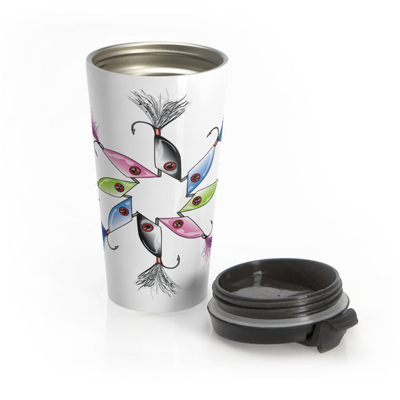ELSalto Set Round Stainless Steel Travel Mug