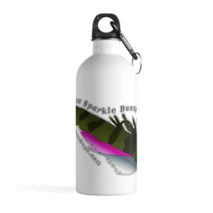 Rainbow Sparkle Bunny Stainless Steel Water Bottle