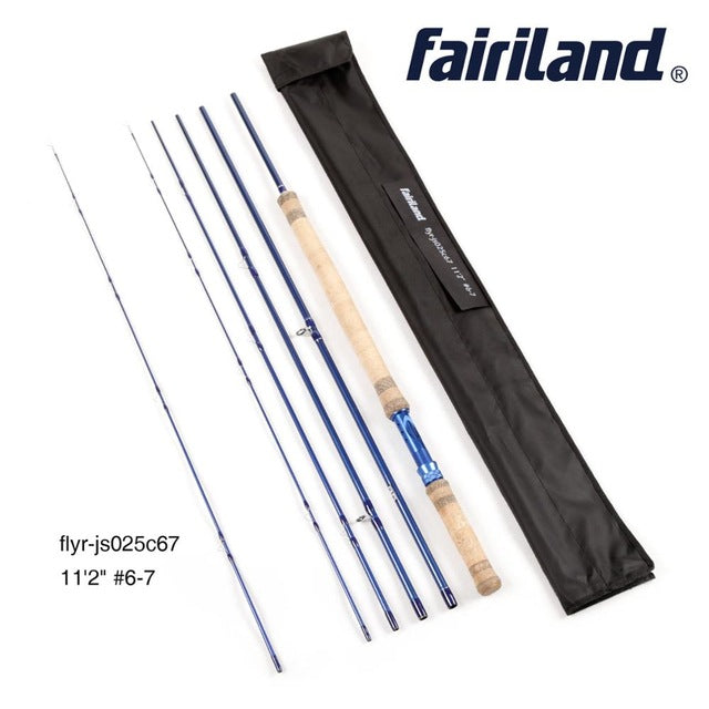 11ft 6wt,7wt,8wt,9wt 5 Section Fly Rod with extra tip