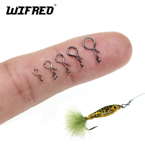 Wifreo 50PCS/bag Fly Fishing Lure Clips