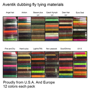 Aventik Dubbing 12 pack of assorted colors