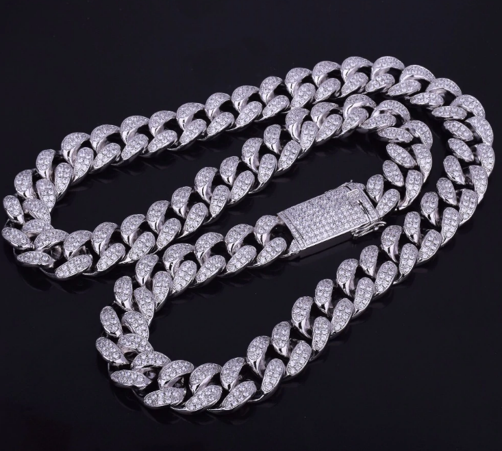 iced out cuban chain