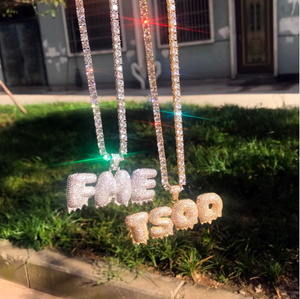 Custom Dripping Letters Pendant