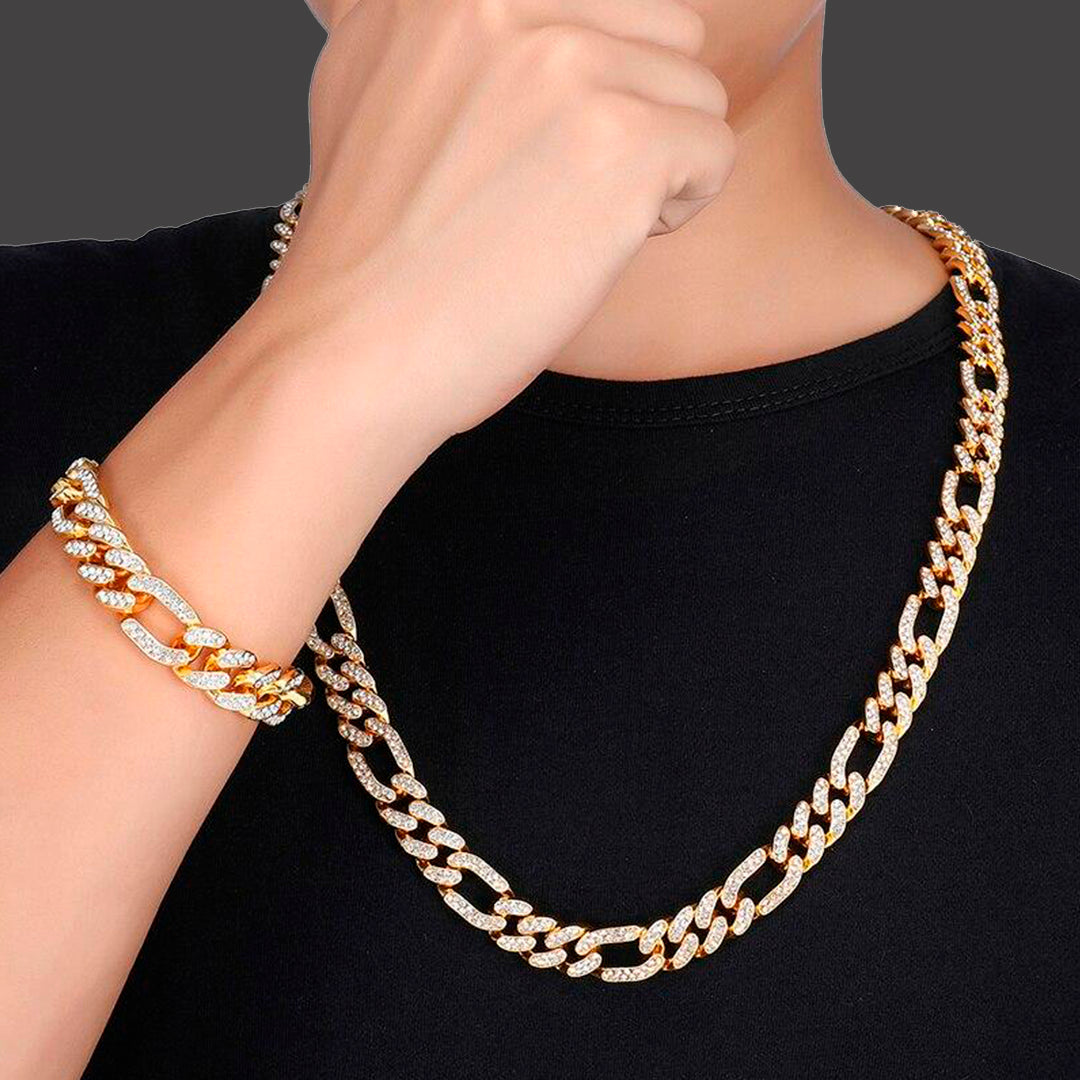 Cuban and Figaro Chain