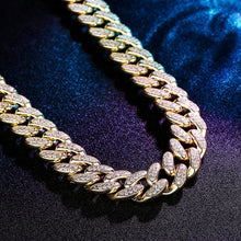 BINO Gold / 16inch Miami Cuban Link Chain - Iced Out
