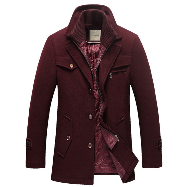 The Chesapeake Quilted Short Trench Burgundy