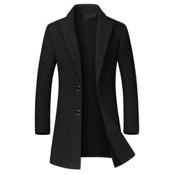 The Hampton Topcoat Black