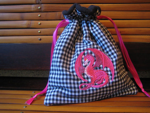 Pink Dragon Bag