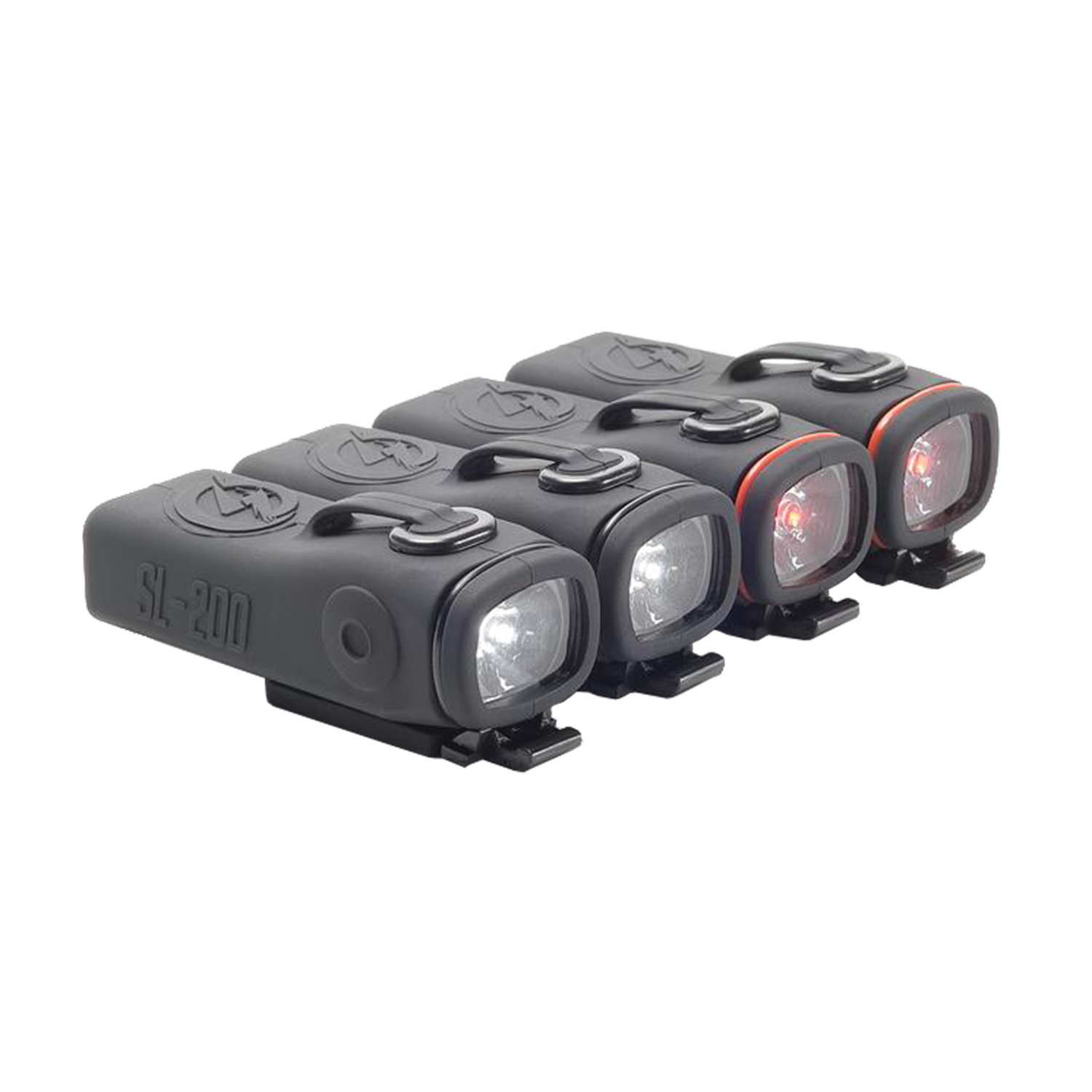 Shredlights SL-200 Luz LED frontales y traseras (4 luces)
