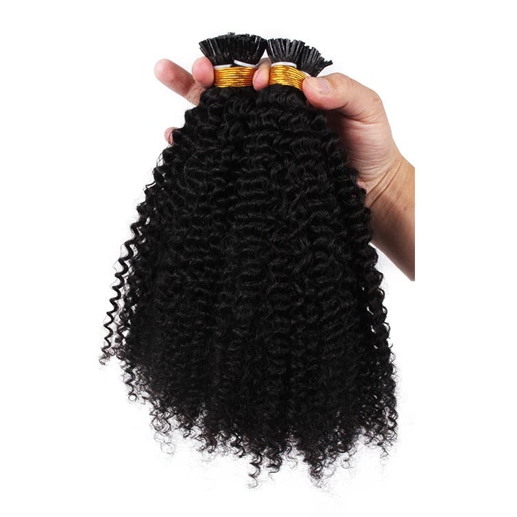 Afro Curly MicroLink I-tips