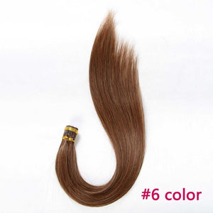 Aphro Hair Brazilian Straight Hair Keratin I Tip Hair Extensions 50g/Lot