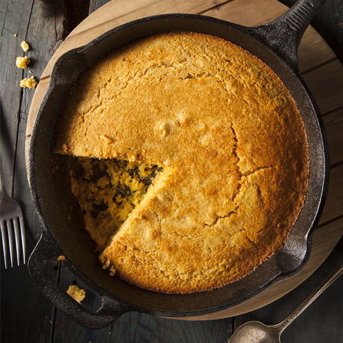Cast-Iron Skillet Cornbread - RECIPE UPDATED!