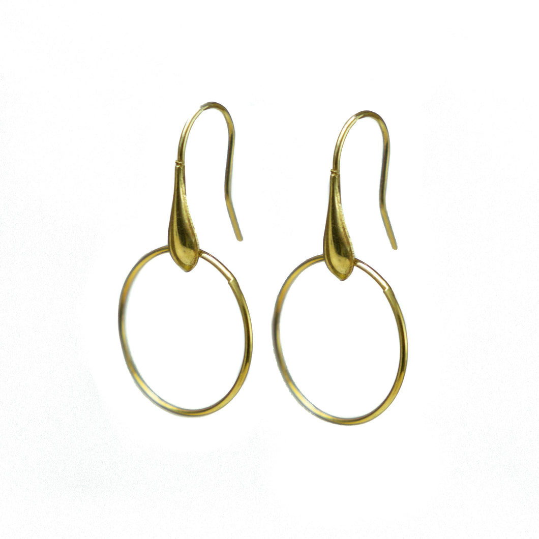 Bamboo Hoops Gold