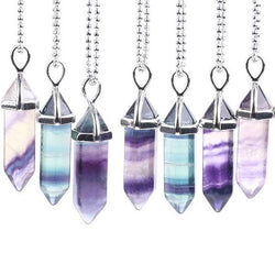 Hexagonal Fluorite Point Pendulum