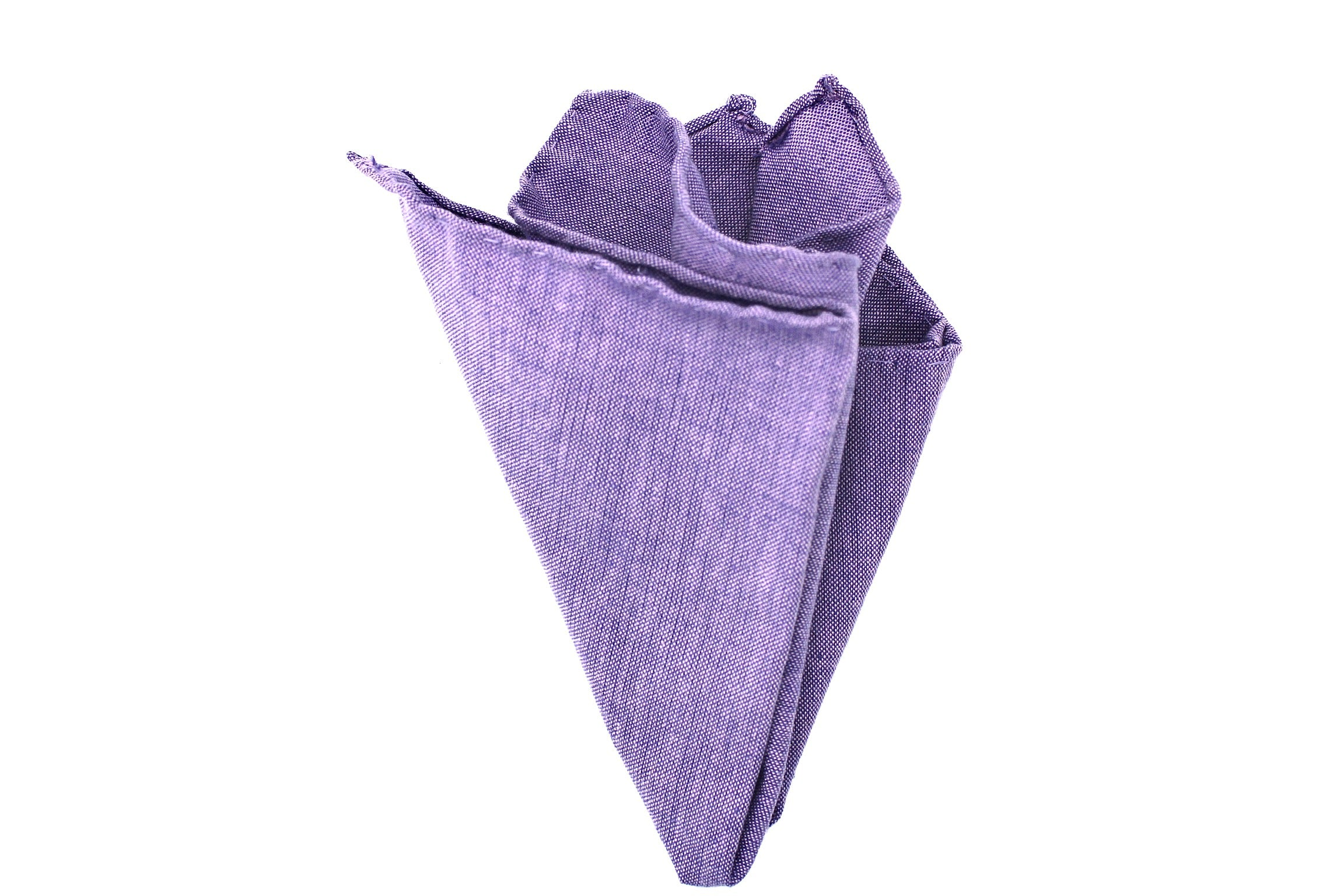 """Purple"" Pocket Square (Hand-sewn)"