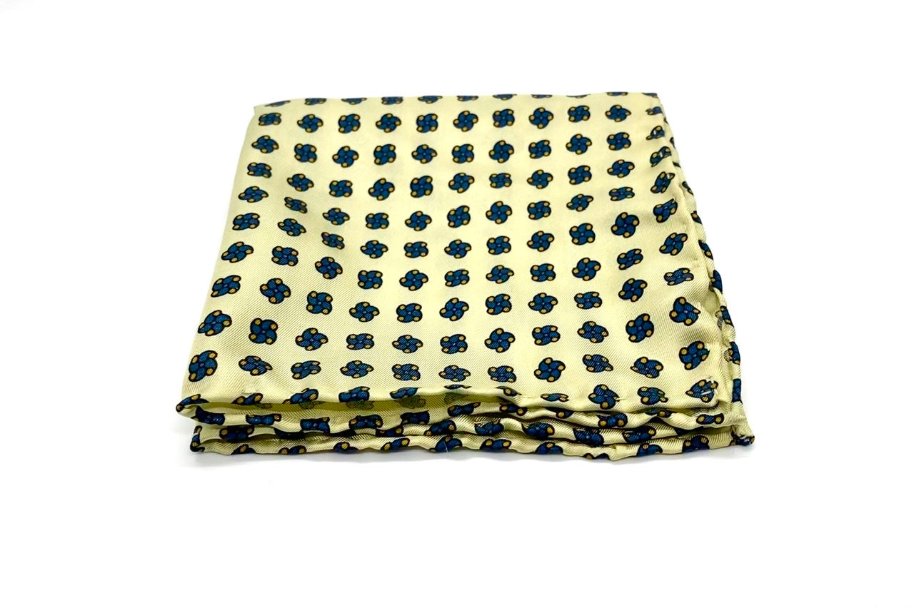 """Silk Canary"" Pocket Square"