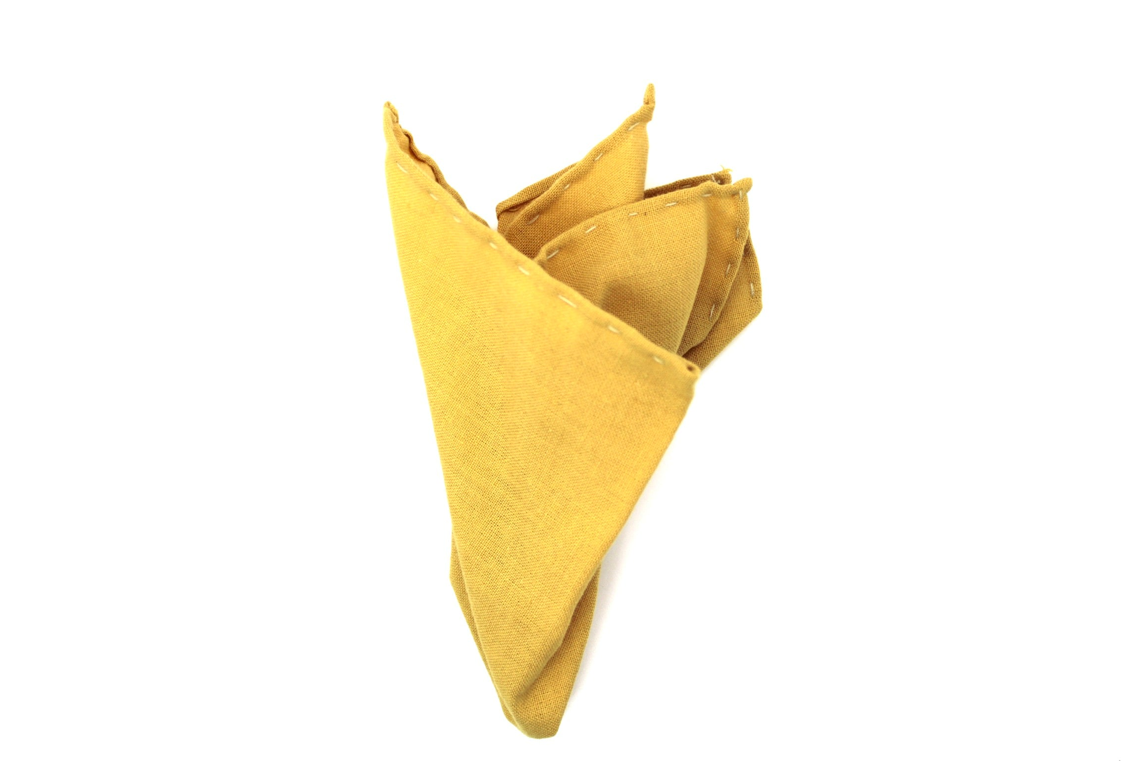"""Gold"" Pocket Square (Hand-sewn)"