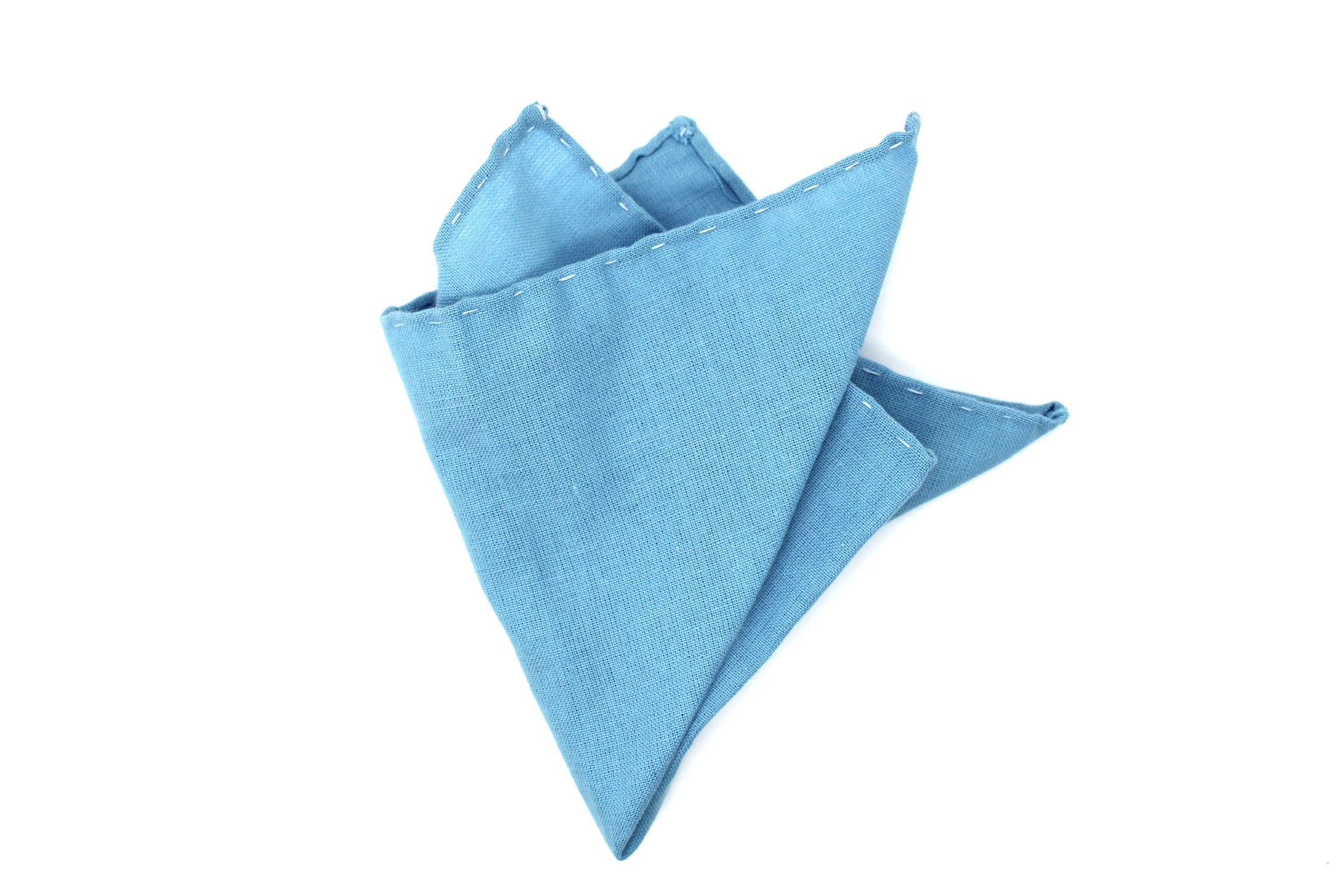 """Southern blue"" Pocket Square (Hand-sewn)"
