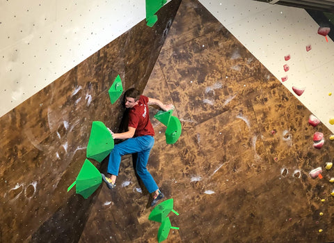 Grizzly Holds Ridgelines, a large sloper set of rock climbing holds.