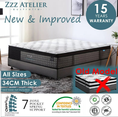 Belgium Extra Thick Foam Mattress King Single Size - 34CM