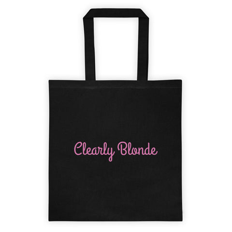 Clearly Blonde Cotton Canvas Tote